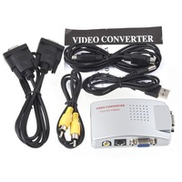 Brand New Universal PC Laptop VGA to TV Video Signal Converter Switch Box, Free Shipping