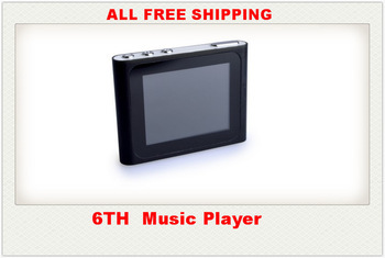 free DHL shipping Newest! 1.8 inch 6th mp3 mp4 player Support Micro SD Card max 16GB, FM Radio Games,ONLY MP3 200pcs/lot(China (Mainland))