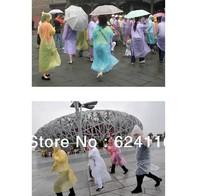 P15 10pcs/lot Travel Simple Supplies Disposable Raincoat Portable Raincoat Poncho Rain Gear Rainwear