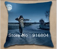 Free Shipping !! USA Super Music Star Michael Jackson Printed Design Cushion Cover With 40cm*40cm Size