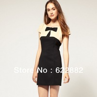 Dress summer 2013 brand european style plus size women dresses novelty casual short sleeve dresses a line mini skit Party dress