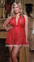 Hot sale red color chiffon sexy lingerie, large size lingerie,xxxl women clothing,plus size women