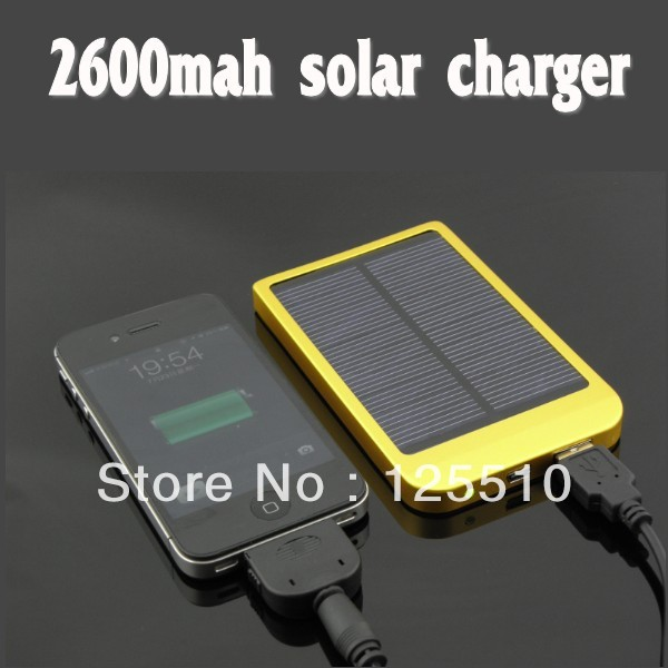2600mAh Solar Charger Portable USB Solar Power Bank Charger For Mobile Phone MP3 MP4(China (Mainland))
