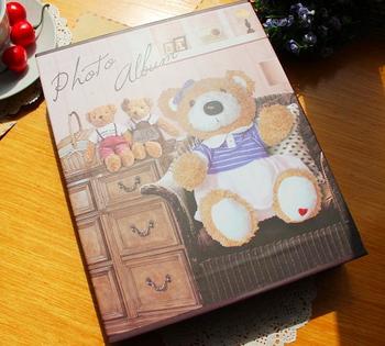 Photo album Big bear 4d 6 photo album baby photo album elegant 120 carton belt