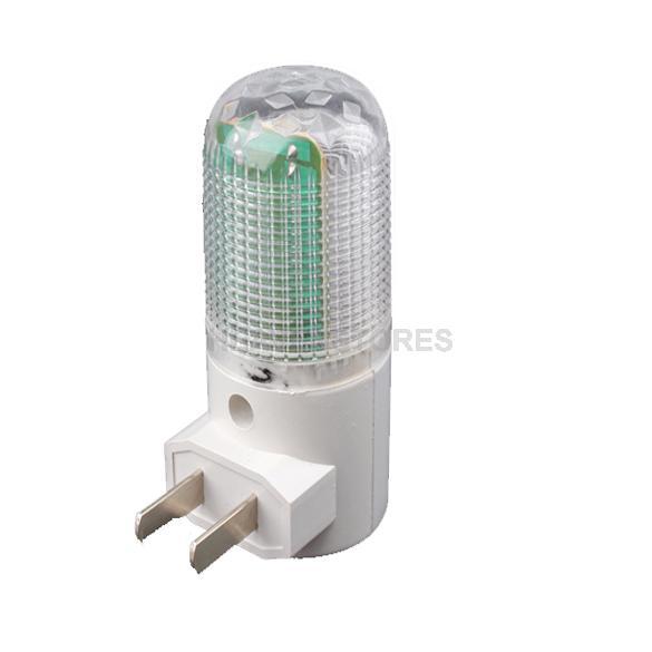 6 LED Nightlight Wall Plug Bright Warm White Light Saving Energy AC Powered hv3n(China (Mainland))