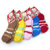 Free shipping Child cotton non-slip socks baby sockscashmere socks