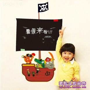 Child real blackboard stickers cartoon figure entranceway wall stickers pirate blackboard stickers