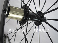 front 38mm rear 60mm tubular carbon bicycle wheels with 1380g light