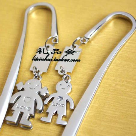 free shipping 10pcs Prince princess lovers bookmark gift metal bookmark(China (Mainland))