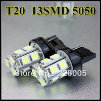 New T20 13 5050 LEDCar Bulb Xenon White for Tail Brake Backup Wedge Lamp T20 13 5050 LED SMD brake turn backup light