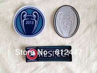 2014 Soccer Patch, Badge of  Honour Trophy 5+UEFA New Champions Patch+Respect Patch ,For New Champions, 6 pic/lot