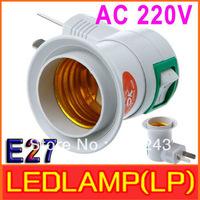 10pcs /lot AC 220V 50Hz 40W E27 Screw Bulb Socket 2-Pole Jack E27 Base Socket Free Shipping