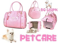 Free Shipping Pink Senior crocodile pattern Korean feed pet package (strapless) Pet Dogs Carrier Bag
