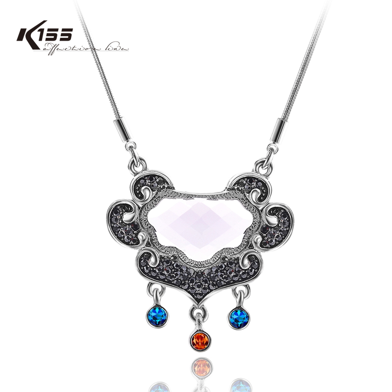 K155 necklace chain pendant female gold plated diamond lucky ruyi lock colnmnaris antidepilation(China (Mainland))