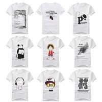 Free shipping 2013 summer 100% cotton men's short-sleeve T-shirt  hot-selling print t shirt 820