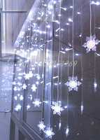 Beautiful  6w led christmas lighting  110V/220V  different status changing  104 led lights and 16 pcs snow flakes free shiping