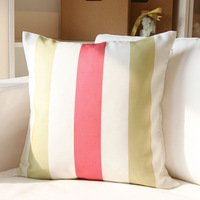 Pillow cover cushion cover gift pillow dual-use multi-purpose cushion cover red and green stripe  45*45cm(no core)