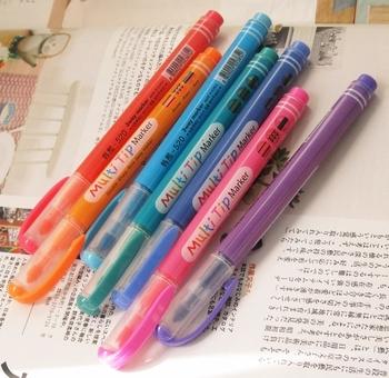 Multi tip variety style neon marker pen multicolor