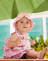 New Girls dress + cap 2pcs suit  baby  wear   wholesale free shipping