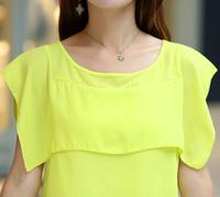Free shipping,clothes for women 2013,Chiffon sleeveless tops for women, womens tops for summer 2013,Casual Chiffon T shirt Sale