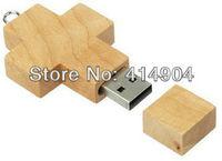 Hot selling High quality wood cross USB flash drive 2GB 4GB 8GB usb flash drives,wood usb pen drive