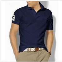 Free shipping2013 New Mens T Shirt +Men's Short Sleeve T Shirt slim fit ,Polo shirt ,cotton,13colors ,4size,drop shipping