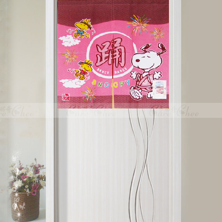 Endulge SNOOPY 90 red DORAEMON japanese style curtain semi-shade rod cartoon(China (Mainland))