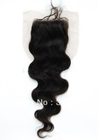 free shipping New arrival queen hair products brazilian body wave 4x3.5inch bleached knots