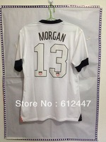Alex Morgan  #13  USA Centennial Home  Jersey 2013/14 ,Thai quality +++ ,100% Guaranteed .thai quality