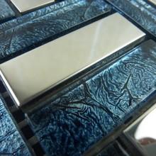 Aço inoxidável espelho mosaico ouro azul do console de vidro de fundo cintura parede(China (Mainland))