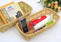 Free shipping Hot-selling rustic rattan straw braid cosmetics jewelry storage box networking & storage basket