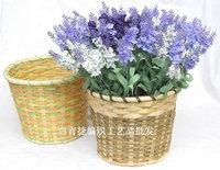 Free shipping  Modern fashion home decoration rattan floor tub vase flowers in basket artificial dried flower basket