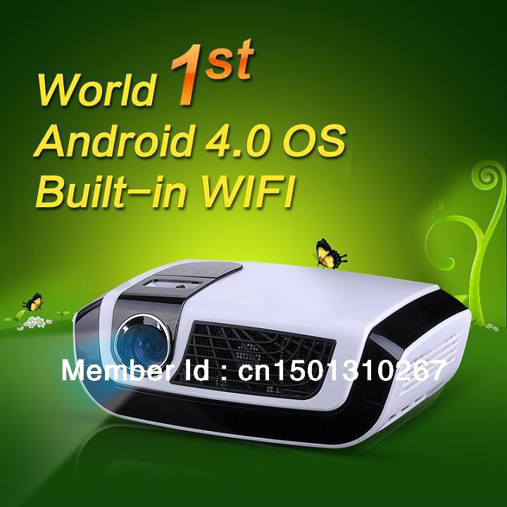 Adroid 4.0 WIFI 1280*800 Full HD DLP LED Portable projector with 3*USB 2*HDMI AV VGA TV(China (Mainland))