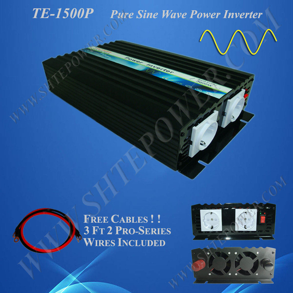 CE&RoHS Approved,12V 24V dc to AC 110V 220V 230V 240V ac 1500W Pure Sine Wave Solar Inverter(China (Mainland))