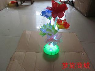 Luminous colorful lights optical fiber flower battery small night light with switch led gift luminous toys(China (Mainland))