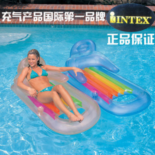 Intex58802 armrest luxury water floating row adult floating row(China (Mainland))