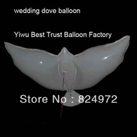 300pcs/lot life-like White eco-friendly material dove wedding Balloons/set the tone and atmosphere of the Wedding