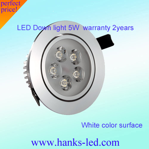 Free shipping ,Wholesale LED 5w AC85V-265V Ceiling and down light Aluminum,Warm/Cold White 6pcs/lot,hot sale!(China (Mainland))