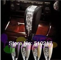 1pcs free ship Crystal Diamond car modification gear stick racing car manual header gear knob MT AT gear shift knob