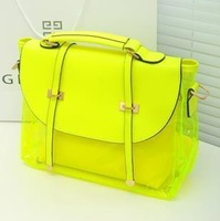 2013 summer female double arrow messenger bag sugar jelly transparent bag