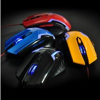 Free shipping wired US gaming mouse with blue light drop shipping