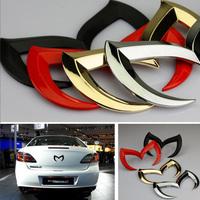 Bat Batman Badge Metal Car Logo Emblems Decal Sticke  Fit Mazda 3 5 6 CX-7 CX-9 MX-5 Miata RX-8 Red/Black/Golden/Silver