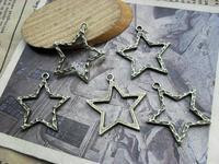 Jewelry Connection Diy accessories vintage antique ancient bronze five-pointed star c848 27*25mm 10pcs/lot