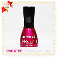 Free Shipping +One Step Nail Gel Polish Wholesale CNF Gelkorea 132Pcs Color Gel  15ml Soak Off Uv Led Sale
