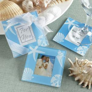 "Free Shipping Four Seasons"" Glass Photo Coasters - Summer(China (Mainland))"