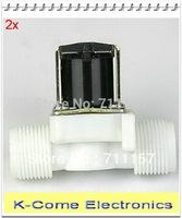 "N/C Type 12V 3/4""BSPP 2Way Nylon Plastic Solar Solenoid Valve Plastic Water Solenoid Valve Water Air Gas"