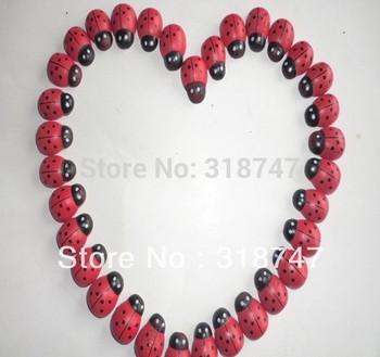 Free Shipping Wholesale 100pcs 1.8*2.4CM Cartoon Beetle Sponge Stickers Fridge Magnet Ladybug Wooden Handicrafts 017032004