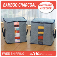 Bamboo charcoal clothing receive bag storage bag dust debris sorting bags