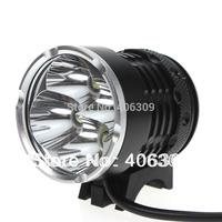 Mini 4T6 Waterproof 4xCREE XM-L T6 4-Mode 4000-Lumen White LED Bike Light with Battery Pack Set +Free Shipping