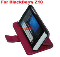 Free Shipping Stand Wallet Book Case Leather Case Mobile Phone Pouch For  BlackBerry Z10